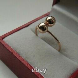 Vintage Soviet Russian 583,14k Rose Gold Ring Kiss Size 7