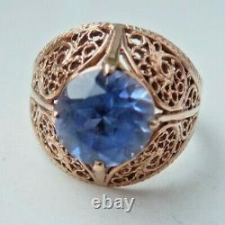 Vintage Soviet Russian 583,14k Solid Gold Ring Size 10