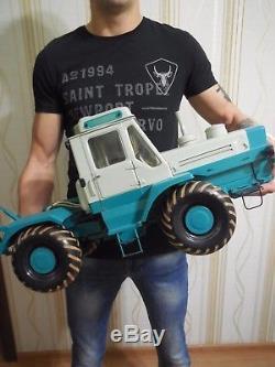Vintage Soviet Russian Tractor T-150K Big Metal Model Scale 110 USSR LOOK! WOW