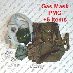 Vintage Soviet Russian USSR Military PMG Gas Mask with original bag SIZE 1