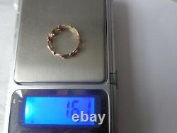 Vintage Soviet Solid Rose Gold Ring 14K 583 Star US Size 5.5 Russian USSR