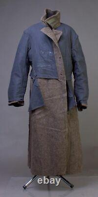 Vintage USSR Russian Military Surplus Uniform Overcoat Soldier Wool Coat 52-3 XL