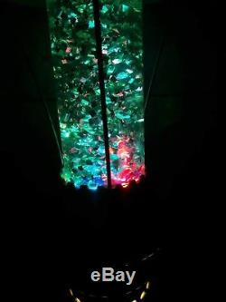Vintage USSR Russian Soviet Night Light Lava Glitter Lamp Space Rocket Launch
