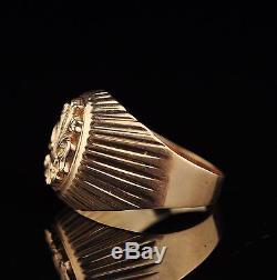 Vintage USSR Soviet Russian 14K / 583 Gold Ring for men size 21mm
