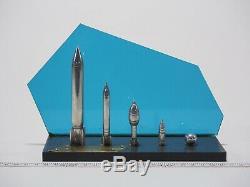 Vintage USSR Soviet Russian Space Rocket Metal Model Hand Made RARE