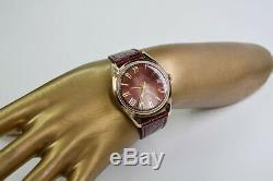 Vw001 Russian rose solid Soviet USSR 14k gold men's watch POLJOT Polet Unique