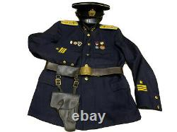 WWII Uniform tunic, jacket+hat Russian Soviet Navy officer marine captain rare