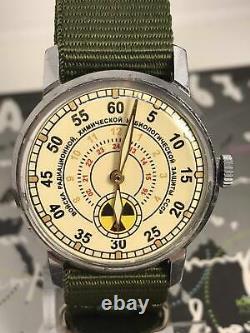 Watch Pobeda Radiation Troops Vintage Men's Soviet Mechanical Russian Watch USSR