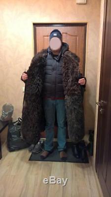 Winter TULUP Russian Army Soldier Guard Big Bekesha Sheepskin Military Coat USSR