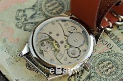 Wrist Watch Komandirskie Soviet russian USSR + leather strap at style NATO /S