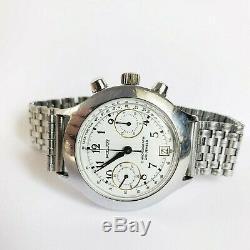 Wrist watch Poljot 3133 Chronograph Legendary USSR Russian Military Serviced