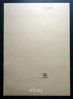 1956 Joseph Staline Mao Zedong Chine Affiche Originale Soviet Russe 30x40 Rare
