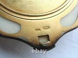 1960 Vintage Urss Russe Gilt Sterling Argent 875 Compact Puff Powder Box Shell