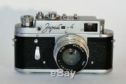 1964 Russe Urss Zorki 4 Camera + Jupiter-8 Lens, F2 / 50 Mm, Un Ensemble Complet