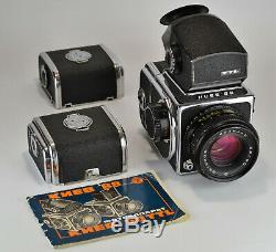 1986 Russe Ussr Kiev-88 Appareil De Format De Support + MC Volna-3 F2.8 / 80 Lentille (2)