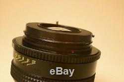1989 Russie Urss Kiev-88 Format De Support Camera + MC 3 F2.8 / 80 Lens + 2 Dos