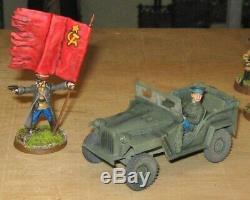 28mm Seconde Guerre Mondiale Bolt Action Coc Immense Armée Rouge Russe Soviétique Pro Peint 150+ Minis