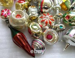 33 Antique Vintage Urss Russe Vieux Verre De Noël Décorations De Noël Décorations