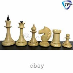 4.1 Pièces D'échecs Lettones Soviétiques (russes) De 1950 Se Dossent En Buis Ébène