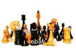 60 S Chess Set Ussr Soviet Vintage Antique En Bois Élégant Russe