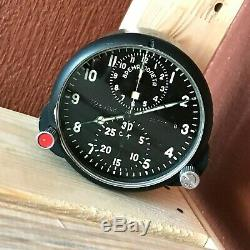 Achs-1m Horloge Chronographe De Poste De Pilotage Militaire Avion De L'armée De L'air Su Urss