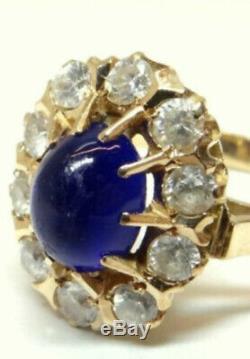 Anneau Étonnant Bijoux Vintage Russe De Style Soviétique Urss Or 14k 583