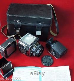 Appareil Photo Kiev 88 # 8302052, Film 6x6cm120, MC Volna-3 Ussr Russian, Case