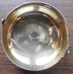 Argent Soviétique Russe 875 Sugar Bowl Tallinn Jewelry Factory Années 1960