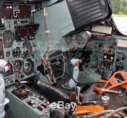 Armée De L'air Russe Soviétique Avions Pilotes Sukhoi Su-24 Contrôle Du Cockpit Joystick