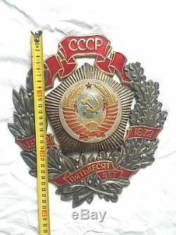 Authentique Russe Soviétique Médaille D'honneur Badge Décernée Par L'urss 50 Ans D'ordonnance Udssr Cccp