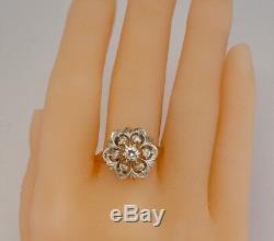 Bague Diamant Urss Russe. 44kttw 14k Rose Rose Gold Union Soviétique Vintage