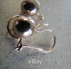 Balles Rondes D'or Russe Rose Soviétique Boucles D'oreilles Timbre 583 14k