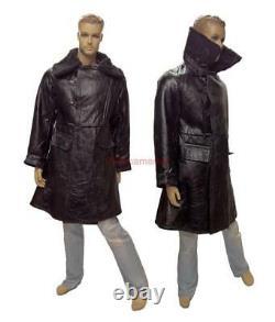 Bekesha Navy Jacket Officier De L'armée Russe Winter Sheepskin Coat Ussr Tulup Noir