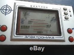 Boîte! Rare Biathlon Russe Urss Elektronika