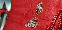 Boucles D'oreilles Or Rose Russe Or 14k 585 Bijoux Fins 1.83g Nouveau Avec Tag Urss