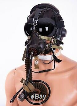 Casque D'origine Pilote + Mig Masque D'oxygène Km-32 Russe Air Force 4pcs Soviétiques En Série