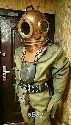 Casque De Plongée Russe Original Soviétique À 3 Boulons, Costume, Bottes Et Plus