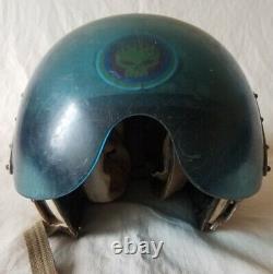 Casque De Vol Soviétique Russe Casque De Vol Air Force Zsh-5a Première Visière Bleue 1960e