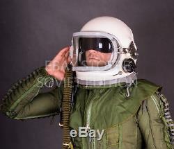 Casque Pilote De Vol Original Russe Ussr Gsh 6 Taille M 2 Force Aérienne Soviétique