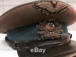 Casquette Uniforme De L'armée Soviétique Russe. Original. 1943 Ww-2