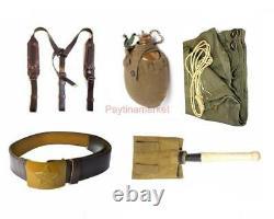 Ceinture D'uniforme De Soldat De Soldat De L'armée Russe Soviétique Soutenant L'urss De Manteau De Pelle De Flacon