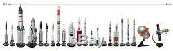 Collection De Plus De 20 Modèles De Fusées Spatiales Russes Et Soviétiques Et De Quelques Figurants