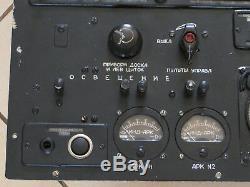 Commandes Ark Du Tableau De Bord Du Tableau De Bord Du Cockpit De L'avion Soviétique Russe