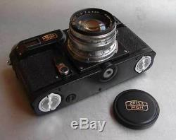 Copie Russe Soviétique De La Caméra Contax Zeiss Ikon II Noir Avec Sonnar Exc
