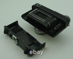Copie Soviétique Russe De Contax Iia Zeissis Ikon Caméra Noire Avec Sonnar Lens Exc