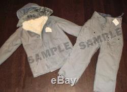 Costume Militaire Hiver Russe Armée Soviétique Manteau, Pantalon / Fourrure En Peau D'agneau Taille 52-56