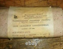 Couteau Pliant D'aviation Urss Multifonctionnelle Stroporez Pilote Armée Russe Soviétique