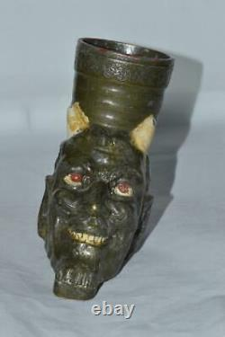 Diable Satan Méphistophélès Urss Figurine Métal Russe Cendrier Halloween 3036u