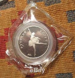 Ensemble De Pièces De Monnaie Russe 1993 'preuve De Palladium - Monnaie 3' Usssr Ballet Soviétique Russie Soviétique