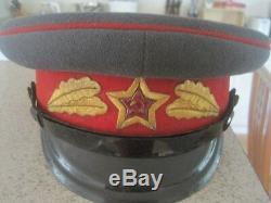 Ensemble De Veste Et Visière De L'unité D'honneur Des Gardes Du Kremlin Des Russes Russes De 1955